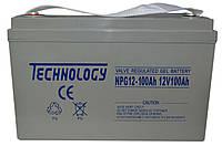 Аккумулятор гелевый TECHNOLOGY NPG12-100Ah 12V 100AH, (Gel) для ИБП