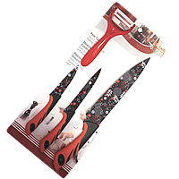 Набор ножей UNIQUE UN-1804 3 штуки (1326) КОД: 343562