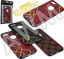 Накладка силиконовая OCOC кожа iPhone 7 Plus (красный)