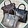 Женская серая сумочка из натуральной кожи, фото 2