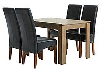 Комплект кухонный компактный (стол 120 см + 4 лакированых стула)