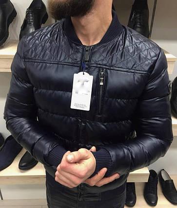 Осенняя куртка мужская без капюшона черная, фото 2