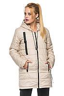 Демисезонная женская куртка парка с капюшоном, фото 1