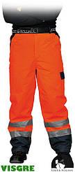 Утепленные защитные брюки до пояса изготовленные из флуоресцентной ткани LH-VIBETRO CG