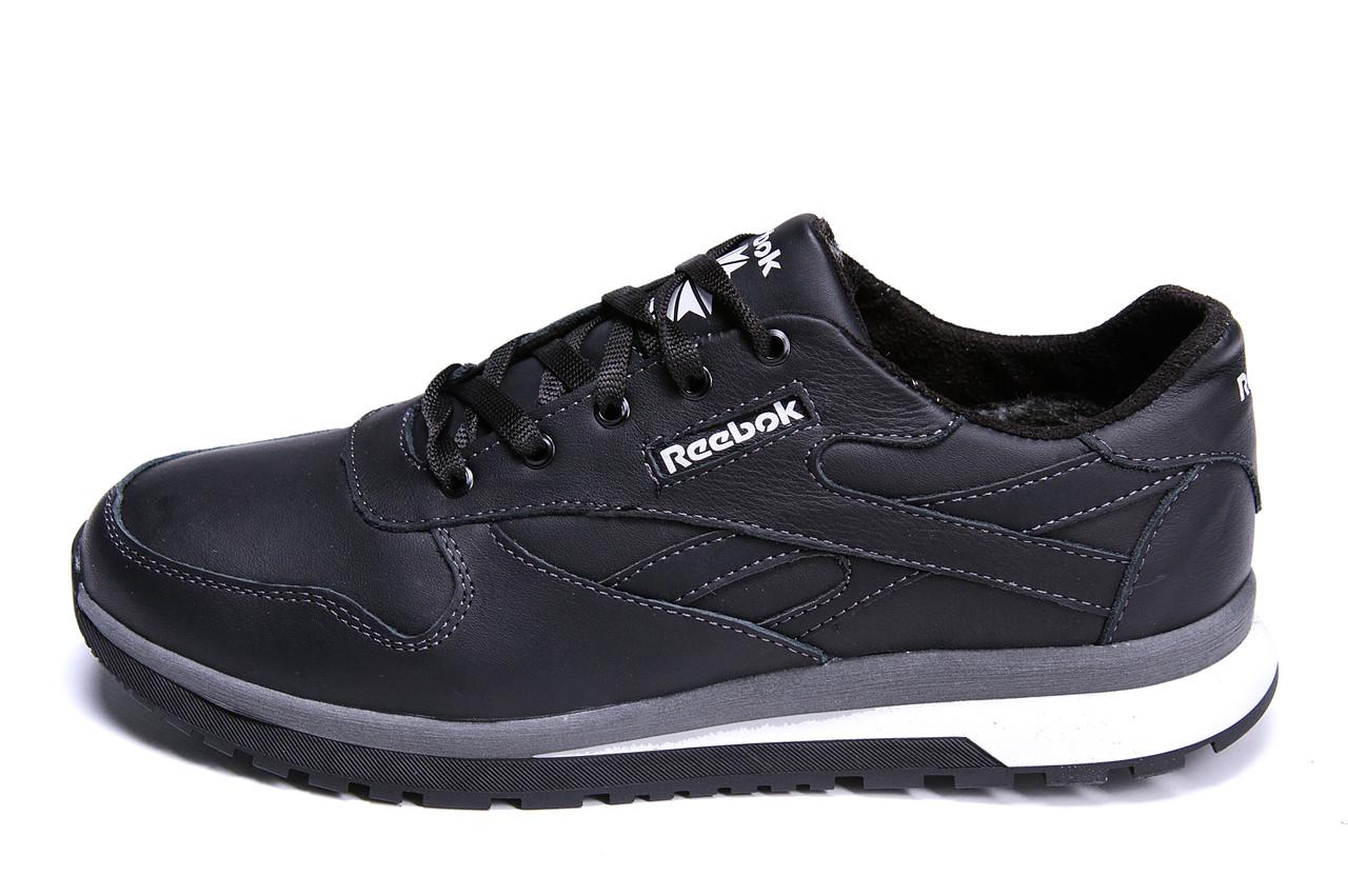 e8efef74c473 Купить Мужские зимние кожаные кроссовки Reebok Classic Black, цены ...