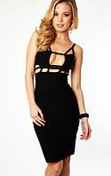 На складе в Украине. Оригинал. Женское бандажное платье Herve Leger с вырезами на талии и декольте HL70468