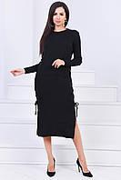 Красивое женское длинное вязаное платье платье 42-46р.(3асцв.)