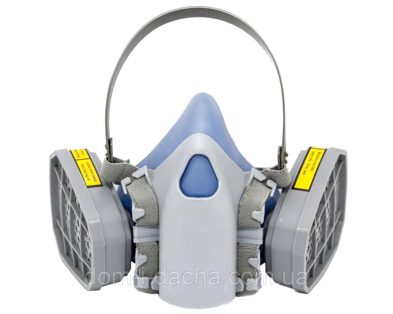 Респиратор  Сталкер-2 с двумя фильтрами марка А химическими (аналог 3М 7500)