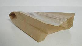 Пакет бумажный с ПП окном  14/6*27,5 коричневый (1000 шт)