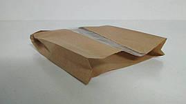 Пакет бумажный с ПП окном  18/5*27,5 коричневый (1000 шт)