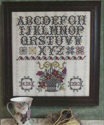 Схема для вышивки Rosewood Manor Surrey House Sampler