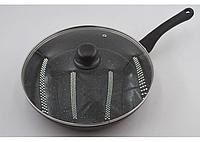 Сковорода с крышкой с антипригарным мраморным покрытием Benson BN-504 (28 см)