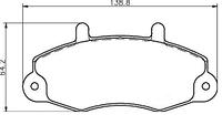 """Передние тормозные колодки (комплект) колесо 14"""" Ford Transit 1994-2000 AST AST470"""