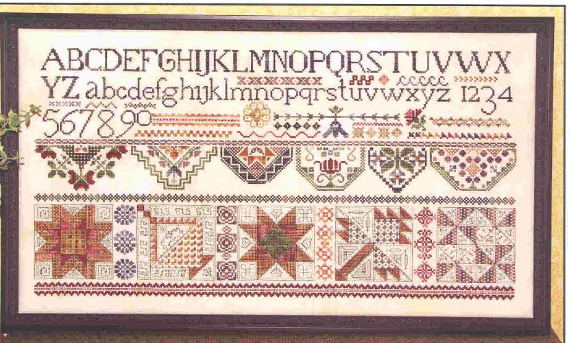 Схема для вышивки Rosewood Manor Quakers & Quilts
