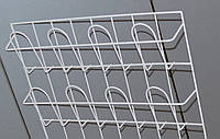 Торгова полиця для поліграфічної продукції навісна кошикова 2 ряди по 4 комірки, фото 1