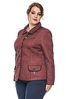 Демісезонна стьобаний жіноча куртка - піджак розмір 50-60, фото 1