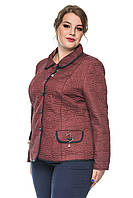 Демисезонная стеганная женская куртка - пиджак размер 50-60, фото 1