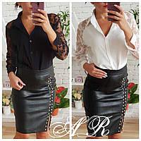 Красивая блузка с кружевными рукавами, фото 1