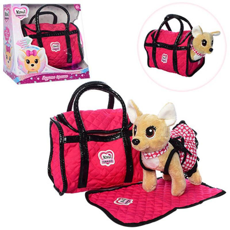 Собачка в сумочке с ковриком Кики 2018 типа chi chi love (Чи чи лав), музыкальная укр. или рос.,