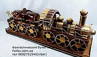"""Шоколадный паровоз в подарок с ромом""""Сладкий экспресс с бутылкой рома""""-70см, фото 1"""