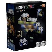 Конструктор LIGHT STAX Junior с LED подсветкой Puzzle Dinosaurer Edition
