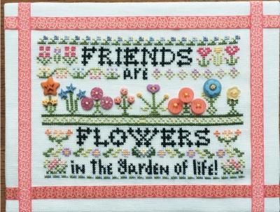 Схема для вышивки Rosewood Manor Friends Are Like Flowers