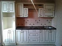 Кухня прямая, в классическом стиле, по индивидульным проектам, под ключ.