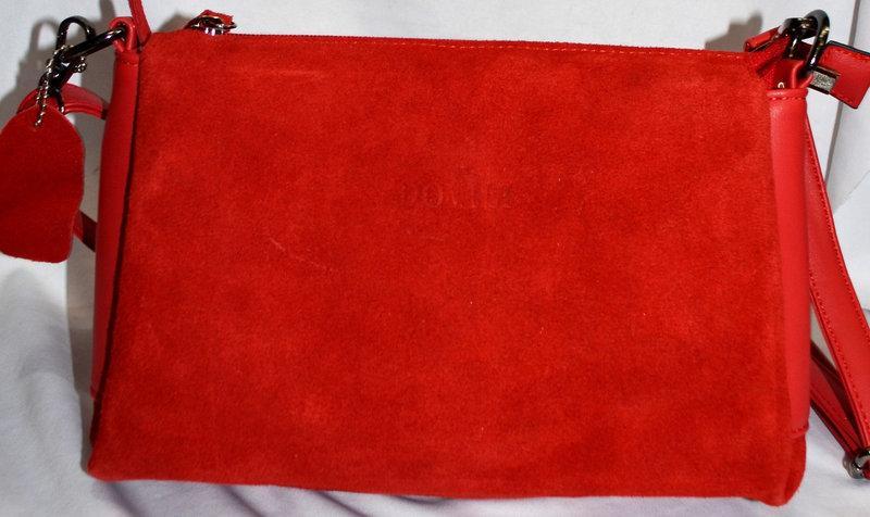 f692eca1579b Женская Сумочка Dovili клатч сумка из натуральной замши через плечо ...