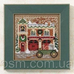 Набор для вышивки Mill Hill Firehouse  Christmas Village Series (2009)