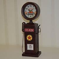 """Оригинальные настольные часы """"Бензоколонка"""", металл (37*12*9 см.), фото 1"""