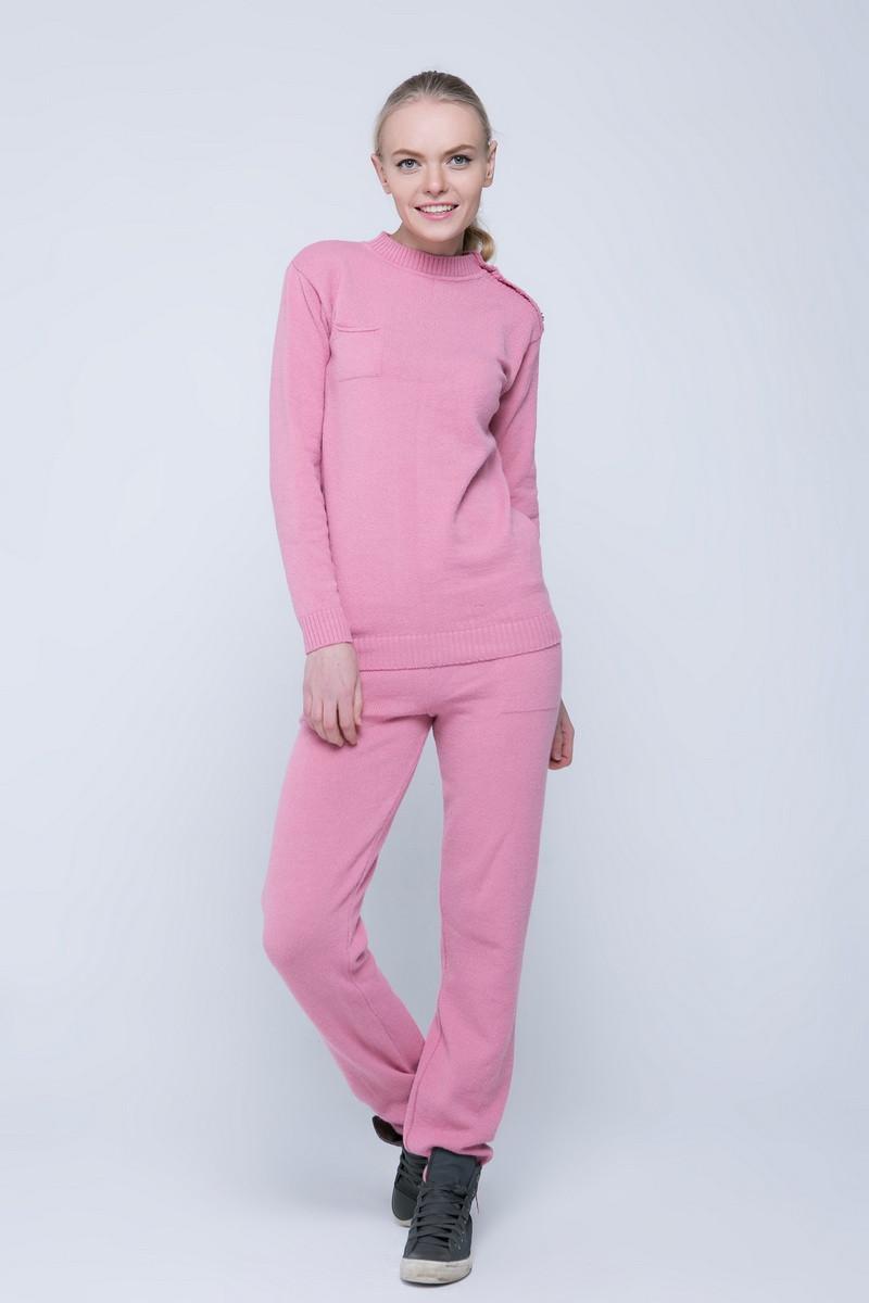 SEWEL Вязаный костюм SC411 (50-52, розовый , 60% акрил/ 30% шерсть/ 10% эластан)