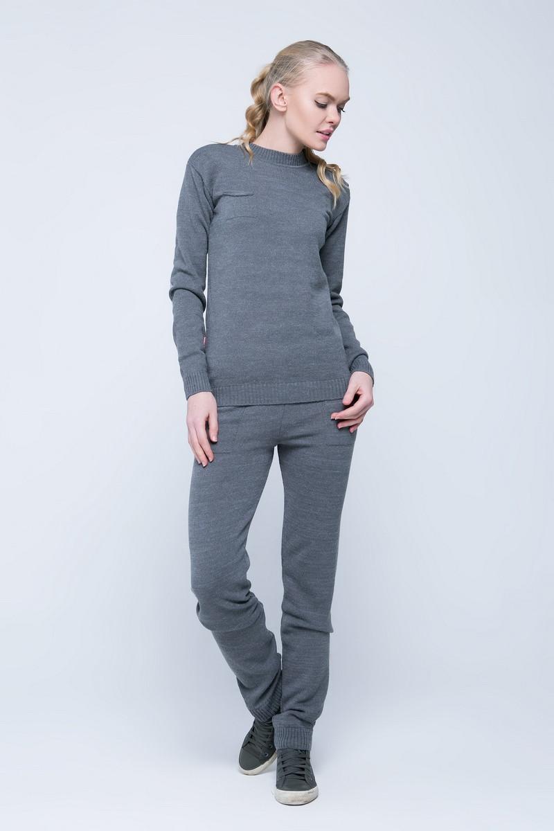 SEWEL Вязаный костюм SC411 (42-44, серый, 60% акрил/ 30% шерсть/ 10% эластан)