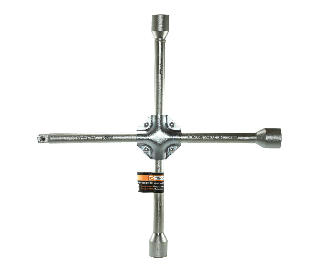 """Ключ балонный крестовой Polax усиленный 350 мм Ø16 мм, 17 х 19 х 21 мм 1/2"""" (25-072)"""