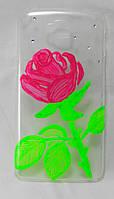 "Чехол накладка на LG G Pro Lite Dual D686 ручной работы ""Роза"""