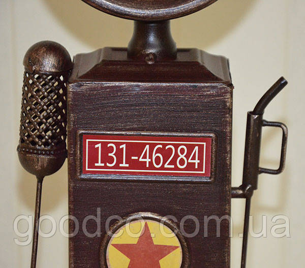 """Оригинальные настольные часы """"Бензоколонка"""", металл (37*12*9 см.)"""