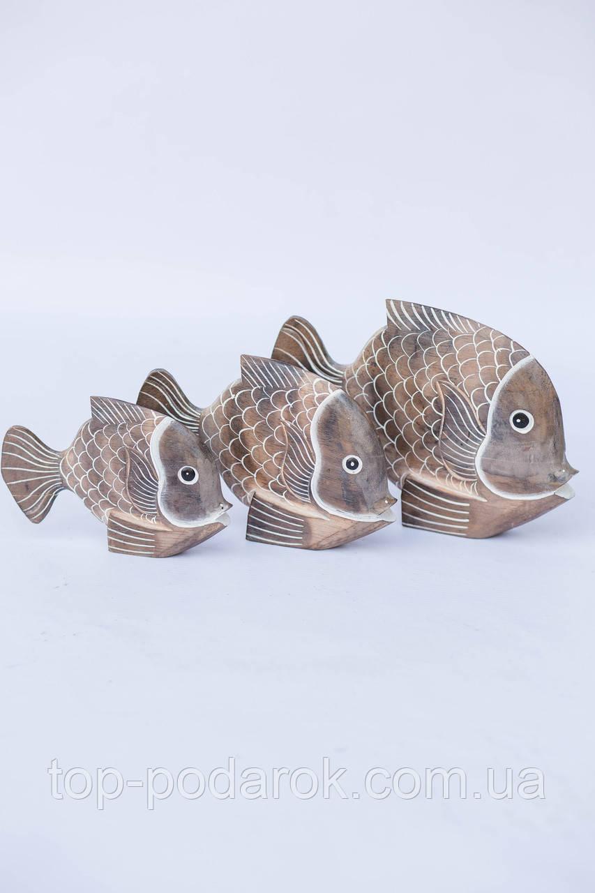 Статуэтка Рыбка деревянная размер 12*19 см