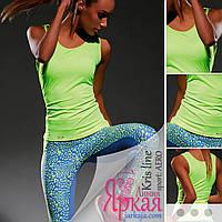 Майка женская спортивная Kris Line™. Борцовка для фитнеса и йоги. Одежда для спорта Польша