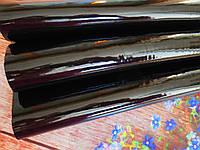 Экокожа (кожзам) лаковая на тканевой основе, ЧЕРНЫЙ, 20х27 см