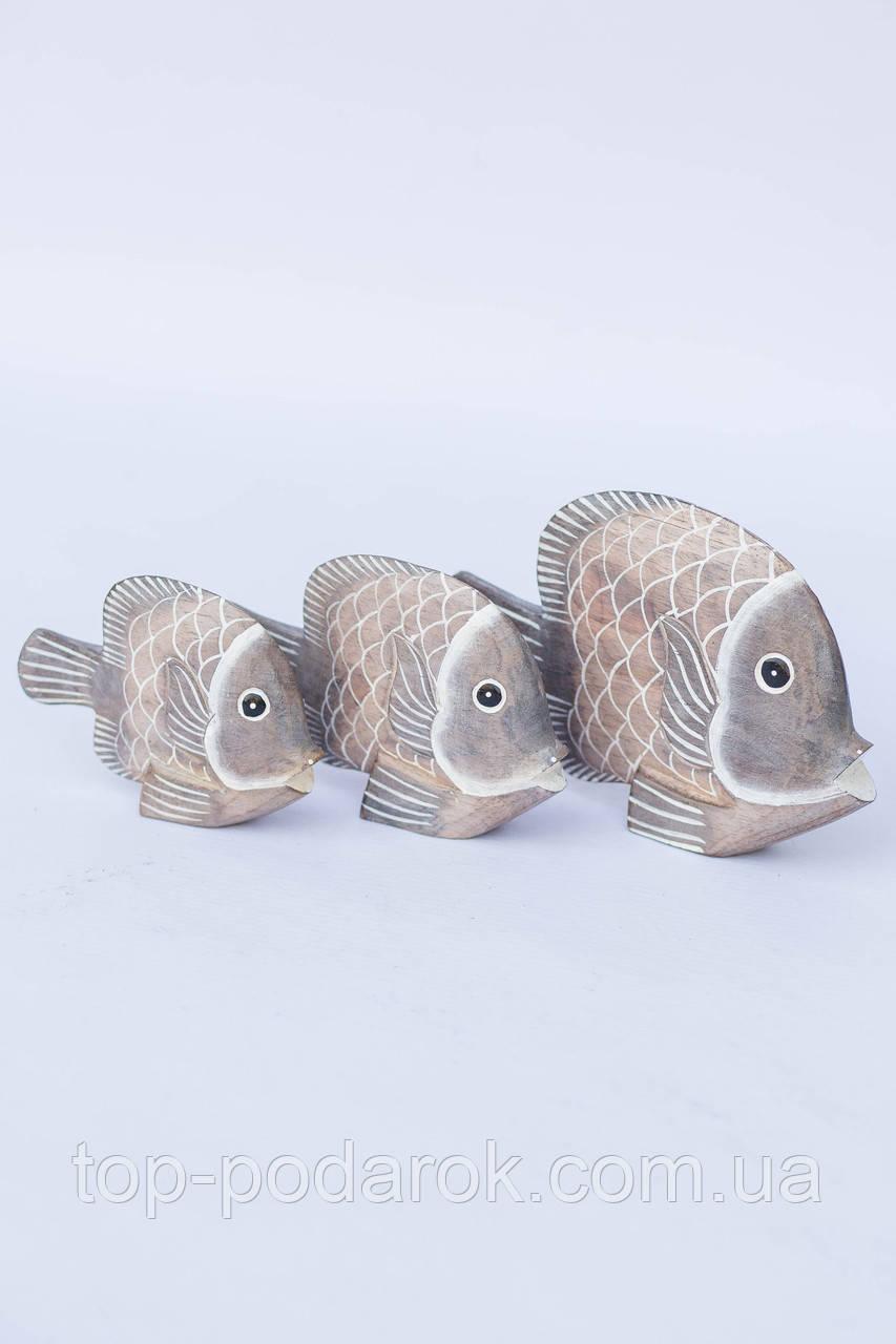 Статуэтка Рыбка деревянная длина 16 см