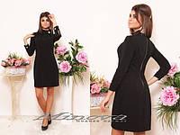 Женское стильное черное платье