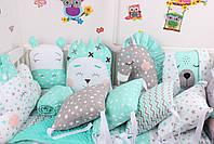 Комплект в дитяче ліжечко з тваринками, фото 2