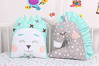 Комплект в дитяче ліжечко з тваринками, фото 4