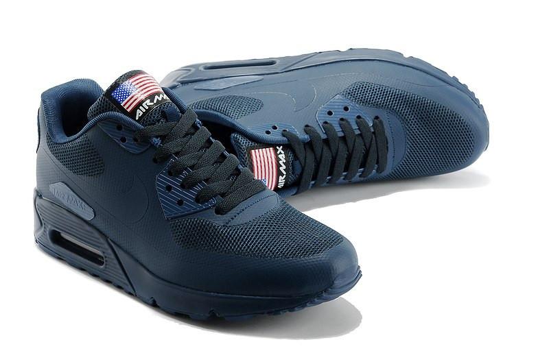 b18ecc86e44281 Кроссовки Nike Air Max 90 Hyperfuse темно-синие - Интернет магазин обуви  «im-
