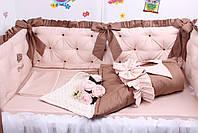 Комплект в дитяче ліжечко каретна стяжка, фото 3