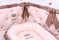 Комплект в дитяче ліжечко каретна стяжка, фото 5
