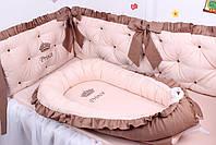 Комплект в дитяче ліжечко каретна стяжка, фото 6