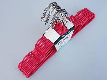 Плечики детские металлические в силиконовом покрытии розового цвета, 29,5 см, 10 штук в упаковке