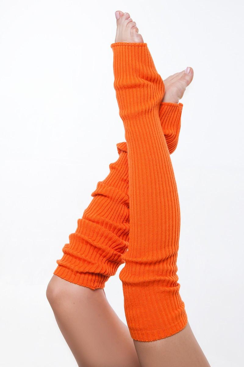 SEWEL Гетры GW073 (80 см, оранж, 100% акрил)