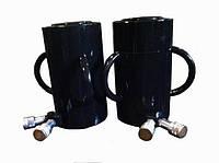 Домкрат гидравлический с маслостанцией с двумя быстроразъемными муфтами 100 т