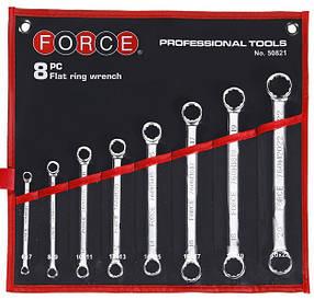 Набор накидных ключей прямых 8пр. (6-22мм.) FORCE 50821